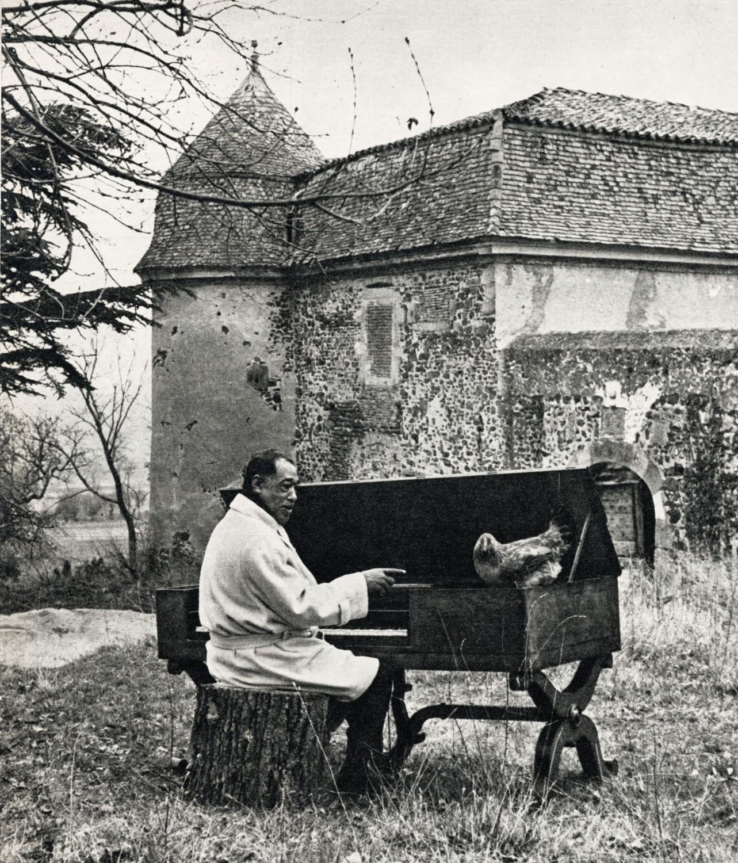 p. 371, Episode gallinaço-musical dans le parc du château de Goutelas, dans le Forez, X, Coll. Philippe Baudoin