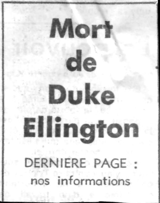 p. 565, Mort de Duke Ellington: Le Figaro, Coll. Christian Bonnet