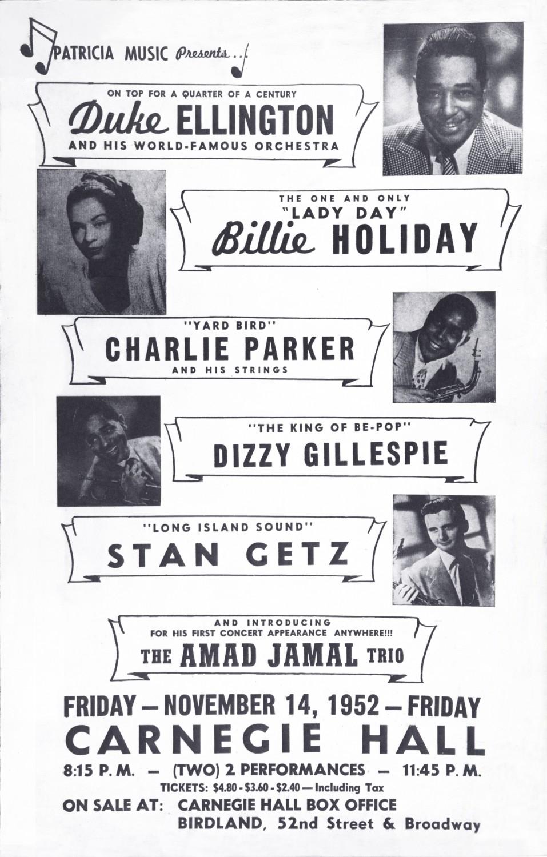 p. 207, Affiche du concert Carnegie Hall du 14 novembre 1952, , Coll. Philippe Baudoin