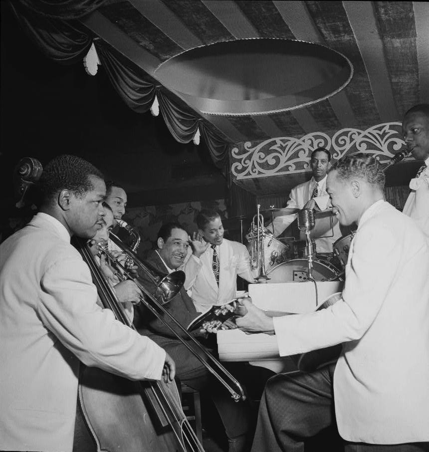 gottlieb_DE Junior Raglin L Brown Hodges Nance Greer Guy Carney Django Aquarium NYC Nov 1946