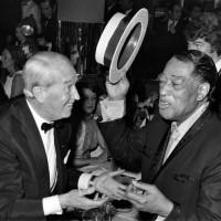 Maurice Chevalier et Duke Ellington Anniversaire des 70 ans de DE Alcazar Paris France 20 novembre 1969